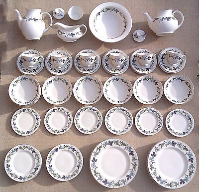 Royal Doulton - Collection Of Tableware - Burgundy - Tc 1001.
