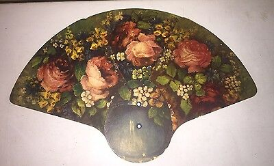 Vintage Advertising Farmers And & Merchants Collapsible Hand Fan