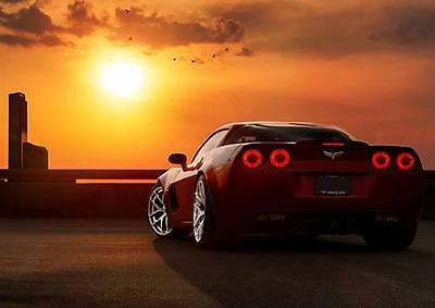 CAR POSTER CHEVROLET CORVETTE Photo Picture Poster Print Art A0 to A4 AB649