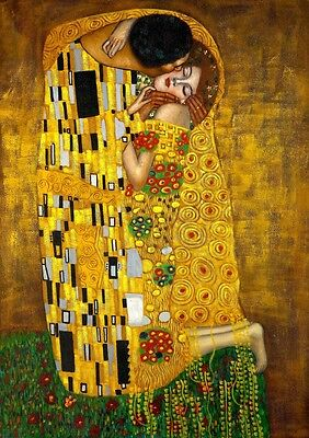 Gustav Klimt: The Kiss. Fine Art Print/Poster