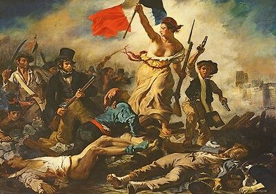 Eugene Delacroix: Liberty Leading the People. Fine Art Print/Poster (3575)