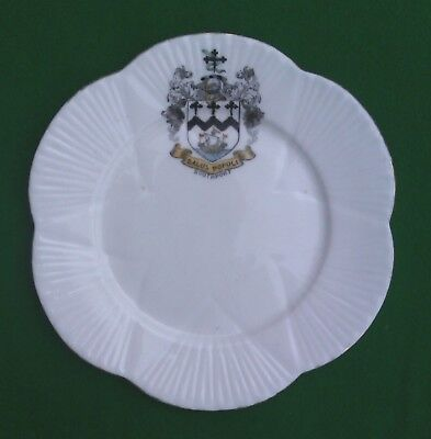 "6"" Shelley - Southport Crested Tea Plate."