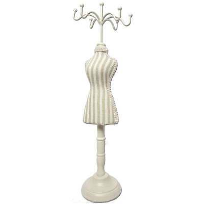"Linen/Burlap Mini Mannequin Jewelry Display 2 3/4""W x 12""H"
