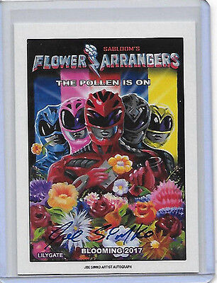 JOE SIMKO 2017 TOPPS WACKY PACKAGES ARTIST AUTOGRAPH Flower Arrangers #25/25