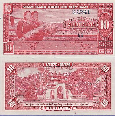 Vietnam-South 10 Dong Banknote 1962 About Uncirculated Condition Cat#5-A-2841
