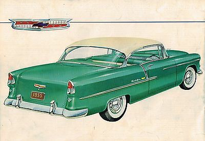 1955 Chevy Brochure / Pamphlet: BEL AIR,150,210,Station Wagon,Convertible,