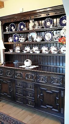 Antique Country Cottage dark Oak Dresser