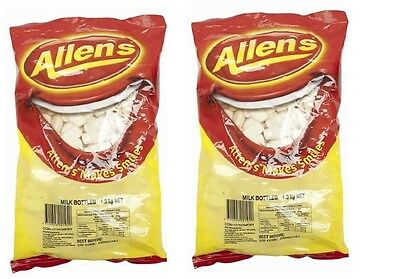 Allens Milk Bottles 2.6kg Lollies Bulk Party Favours Sweets Candy Buffet Favors