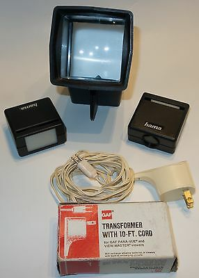 Pana-Vue 1 by View Master, 2 Hama Slide Viewer's, & Transformer w/10ft. Cord.