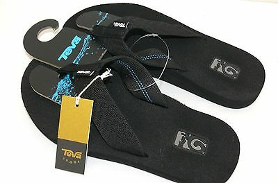 4f890de06106 New Nwt Womens Size 5 Teva Mush Ii Thong Sandals Flip Flops Fronds Black  4198C