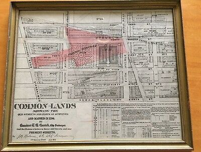 NYC 38th - 42nd St Common Lands John Bute Holmes Mapped By Cassimer T.H. Goerck