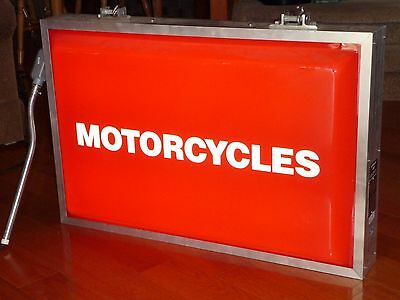 DOUBLE SIDED RED Motorcycle Dealer Light Up Sign Kawasaki  STORE NICE 36 BY 24