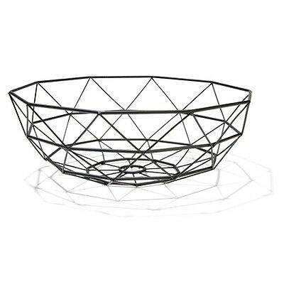 FRUIT BASKET - Matte Black Fruit Bowl-12cm (H) x 35cm (Dia.)**FREE DELIVERY**
