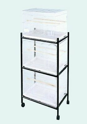 ANEC-503STAND3WHITE-A & E Cage 503 Stand-3 White 3 Tier, Stand for 503 Cages