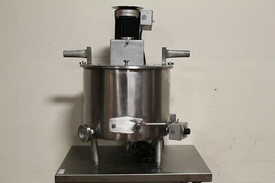 Savage Bros Chocolate Tempering Pot Jacketed Mixing Kettle Melter Sweep Agitator