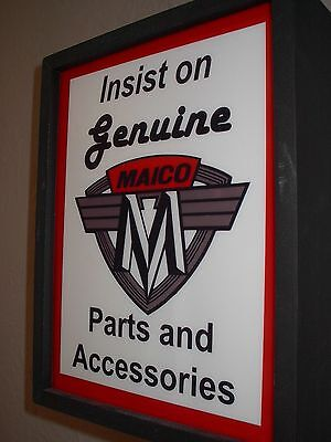 ^^^ Maico Motorcycle Genuine Parts Garage Man Cave Lighted Advertising Sign