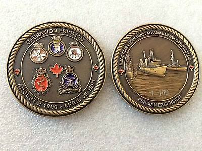 Royal Canadian Navy OP Friction/Gulf War Challenge Coin