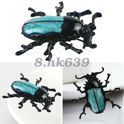 1 Pcs Vintage Insect Punk Fashion Jewelry Enamel Beetle Brooch Pin Gift
