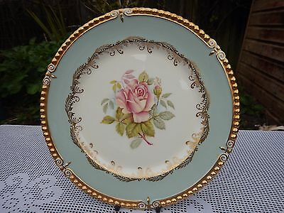 Aynsley hand painted G Bentley Rose pattern plate 10.10 inches