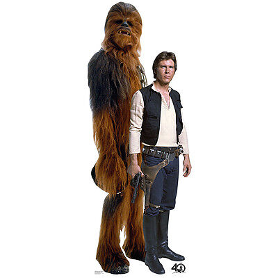 HAN SOLO AND CHEWBACCA Star Wars CARDBOARD CUTOUT Standup Standee Poster F/S