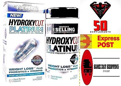 NEW !  HYDROXYCUT Platinum Complete Premium 5 - 1 Formula 60 ct /Express Post