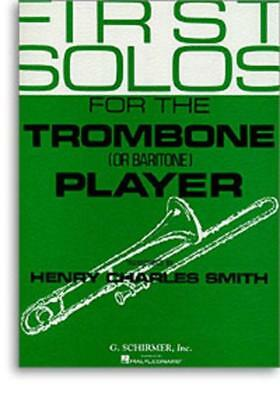 First Solos For The Trombone Player TrbPno
