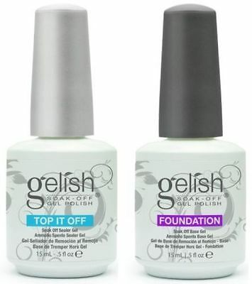 Harmony Gelish TOP IT OFF, Gel sellador, FOUNDATION,Capa base y Matte Top it Off