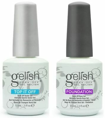 Harmony Gelish, Smalti Trattamento, FOUNDATION Base e TOP IT OFF, 15 ml / 0.5oz