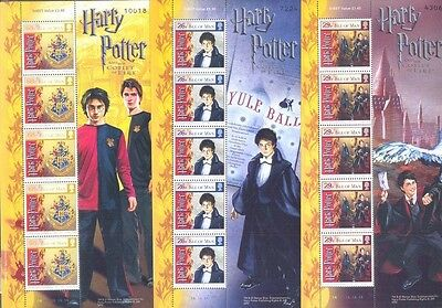 Isle of Man Harry Potter complete sheets mnh 2005 ( 6 sheets)Goblet of Fire