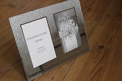 "Shimmer  Double Photo Frame,4"" X 6"" Photos"