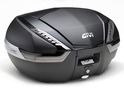 Givi V47Nnt V47Nn Tech Carbon Monokey System Motorcycle Scooter Top Box 47 Ltr