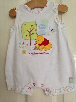 Baby Girl's Clothes 6-12 Mths - BNWT Winnie The Pooh Summer Romper/Outfit