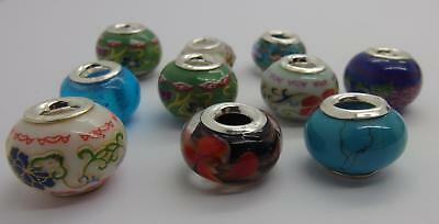 Mixed Job lot 10 x Stamped 925 Sterling Silver Beads Jewellery Making  #2