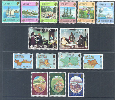 Jersey-Year set 1980 complete commemoratives -excellent price