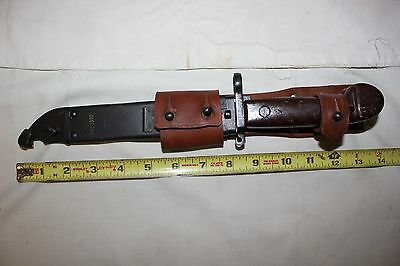 Vintage AK 47 Military Knife with scabbard Matching serial numbers