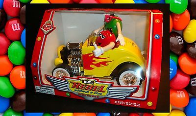 M&M's Yellow Hot Rod Candy Dispenser Rebel Without A Clue Collectible New In Box