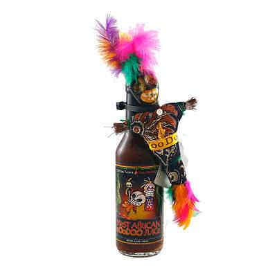 """WEST AFRICAN VOODOO JUICE"" - SUPER HOT Chilli Sauce With Real Voodoo Doll"