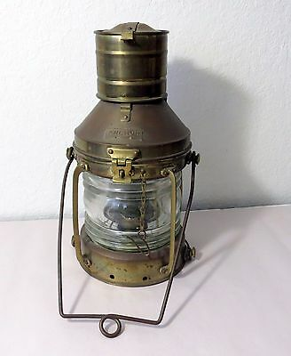 Vintage Anchor Lamp Marine Ship Lantern - Oil Kerosene Lamp