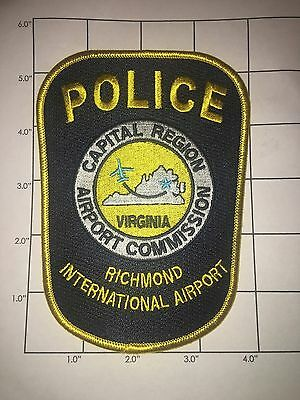 Richmond International Airport Police Dept Patch –  Airport Commission Virginia