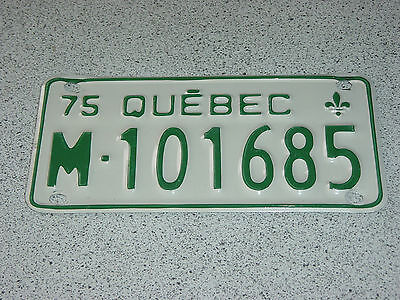 1975 Quebec Canada Motorcycle License Plate M - 101685 Moto Motocyclette Bike