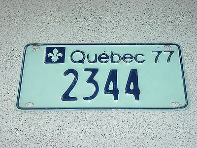 1977 Quebec Canada Small License Plate 2344 Trailer, Car Vintage, VTT