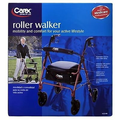 New Carex Roller Walker with Padded Seat & Storage Compartment