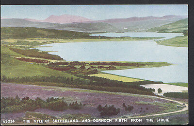 Scotland Postcard - The Kyle of Sutherland & Dornoch Firth From The Struie B2494