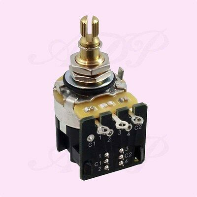 "Potentiomètre Push Pull CTS500K Audio TaperPot DPDT switch 3/4""SplitShaft EP5586"