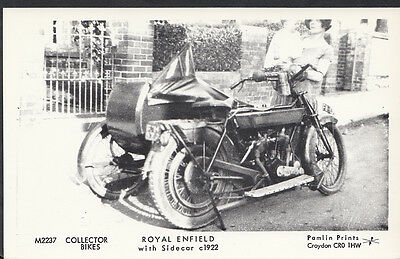 Motor Cycle Postcard - Royal Enfield With Sidecar c.1922 - Pamlin Print 2528