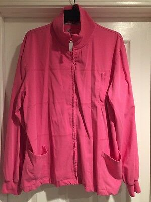 New Balance • Women's Pink Scrub Jacket Shirt • Size XL