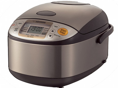 Zojirushi Rice Cooker NS-TSQ10 Stainless Steel Brown, 220-230V (Stainless Steel