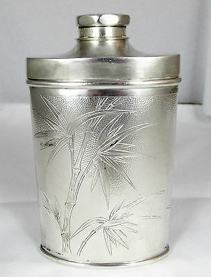 Antique Tuck Chang Chinese Export Silver Powder Shaker Late 19th C