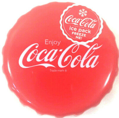 """New Coca-Cola Bottle Cap Freeze Ice Pack 4 1/2 inches in Diameter 1"""" thick Coke"""