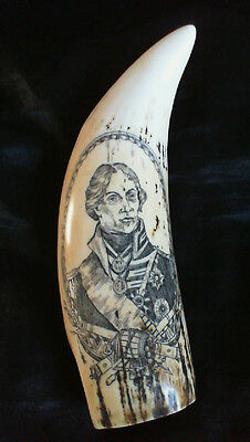 """faux scrimshaw.. """"Lord Nelson  &   Victory""""    Now  Reduced £9.99!  (SRP £24.00)"""